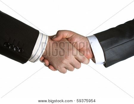 Signing Of The Agreement And A Handshake