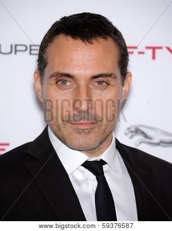LOS ANGELES - NOV 19:  Rufus Sewell arrives to the Jaguar F-TYPE Global Reveal Event  on November 19, 2013 in Playa Vista, CA