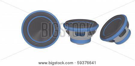 blue stereo speaker