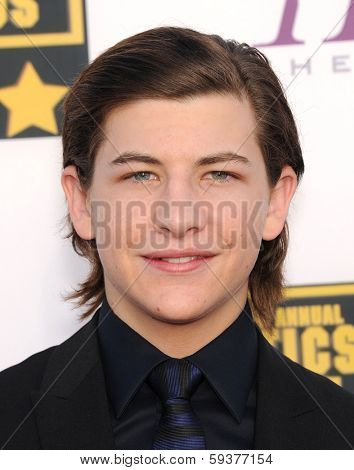 LOS ANGELES - JAN 16:  Tye Sheridan arrives to the Critics' Choice Movie Awards 2014  on January 16, 2014 in Santa Monica, CA