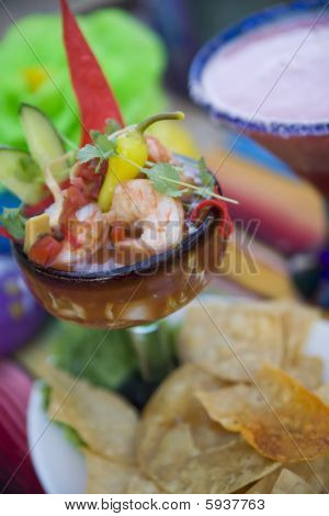 Coctel De Camarones - Mexican Shrimp Cocktail