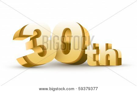 3D Anniversary, 30Th