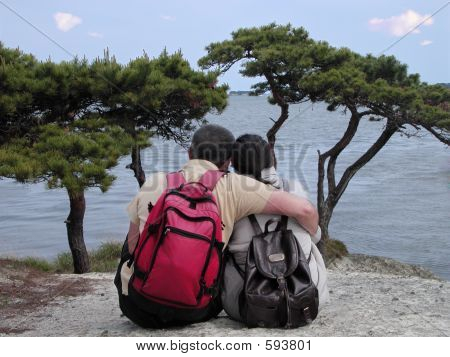 Backpackers Couple