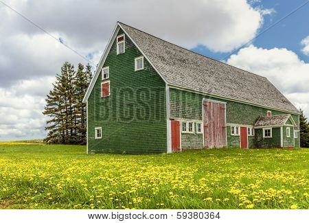 Vintage barn in rural Prince Edward Island, Canada