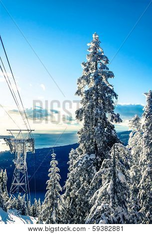 Grouse Mountain ski lifts