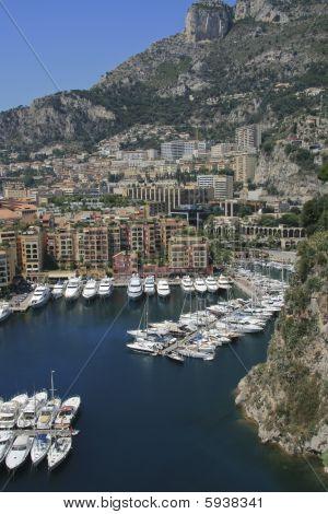 Harbor of Fontvieille in Monaco