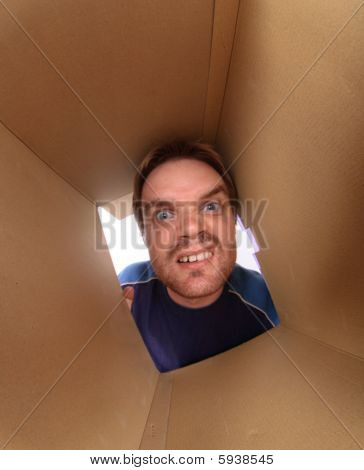 Young Man Inside Box