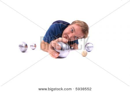 Man Is Playing Petanque