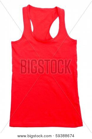 Red singlet isolated on white