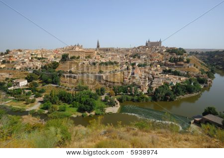 Toledo view from above Spain