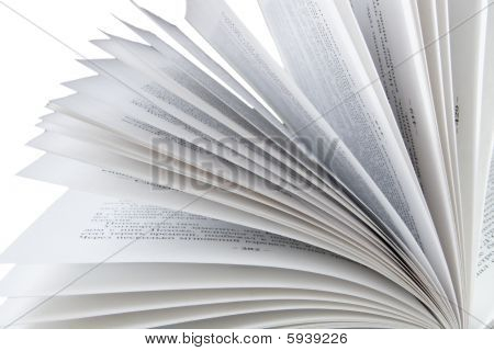 opened book pages