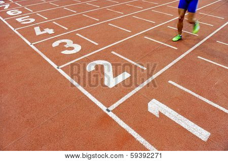 Athlete Cross The Finish Line