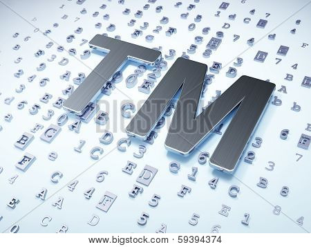 Law concept: Silver Trademark on digital background