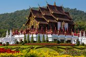 pic of royal botanic gardens  - Traditional Thai Lanna style architecture - JPG