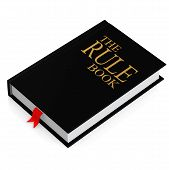 foto of leather-bound  - The rule book image with hi - JPG