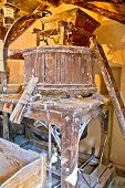 picture of water-mill  - Old traditional water mill interior view Croatia - JPG