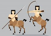 pic of centaur  - Flat illustration of mythical creature  - JPG