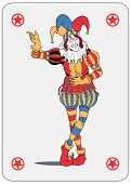 foto of joker  - Joker in colorful costume playing card - JPG