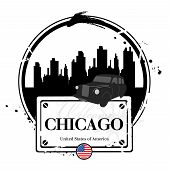 picture of illinois  - Stamp Chicago - JPG