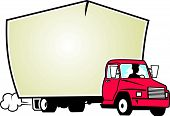 pic of moving van  - Vectored Illustration of a Moving Van Mortice - JPG