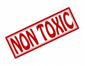 image of non-toxic  - Stamp with text non toxic inside - JPG