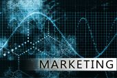 foto of marketing strategy  - Marketing in a Blue Data Background Art - JPG