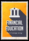 foto of long distance  - Financial Education on Yellow Background - JPG