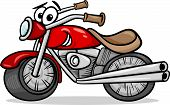 foto of chopper  - Cartoon Illustration of Funny Motor Bike Vehicle or Chopper Comic Mascot Character - JPG