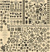 image of damask  - Design elements set - JPG