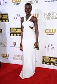 LOS ANGELES - JAN 16:  Lupita Nyong'o arrives to the Critics' Choice Movie Awards 2014  on January 1
