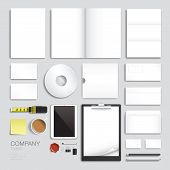 Corporate brand identity vector template design set