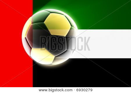 United Arab Emirates Flag Soccer
