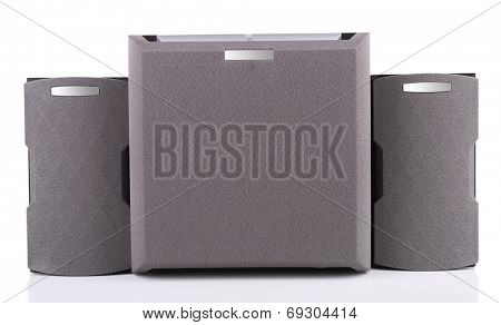 Music speakers, isolated on white