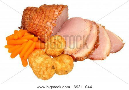 Roasted Smoked Gammon Joint Meal