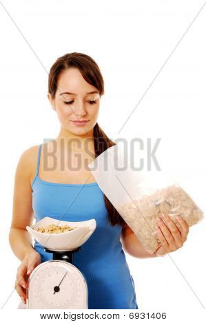Weighing Cereal