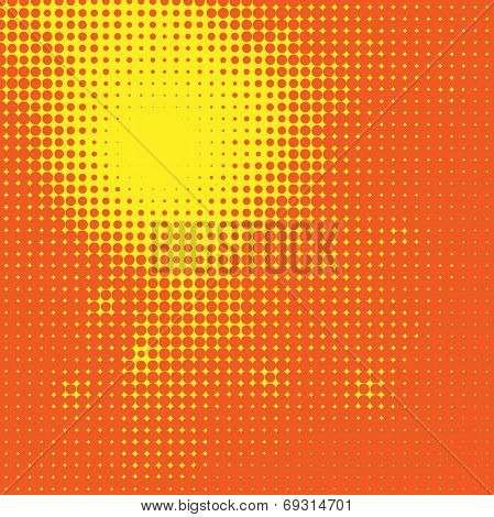 Abstract Sun Halftone Background