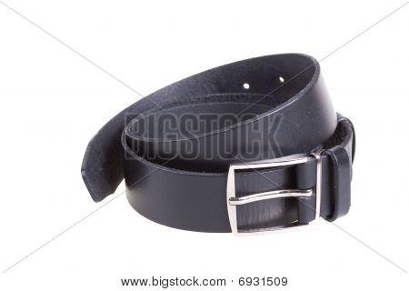 schwarzer Ledergürtel