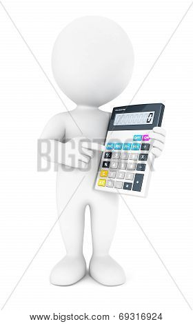 3d white people accountant