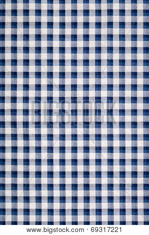 Blue Gingham Cloth