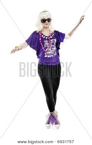 Girl Stand On Tiptoe