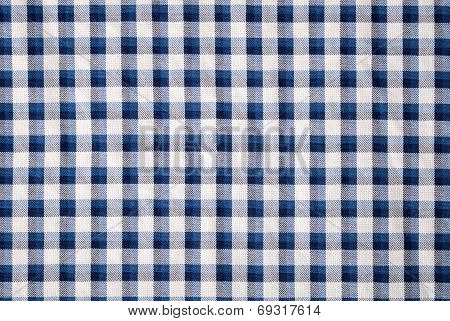 Blue Grid Cloth Texture Background