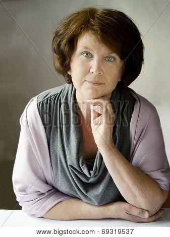 Portrait of a beautiful senior woman