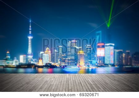 Dreamlike City Background Of Shanghai Skyline