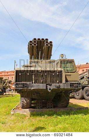 Soviet Multiple Rocket Launcher System 9A52 Smerch