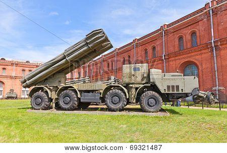 Soviet Heavy Rocket Launcher System 9A52 Smerch