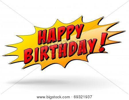Vector Happy Birthday Icon