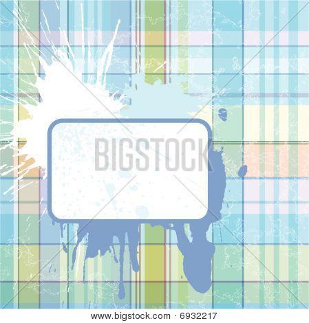 Grunge Checked Background