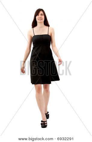 Frau in einem Cocktail-Kleid