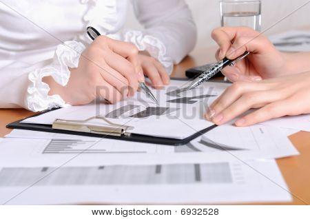Hands Of Business Women