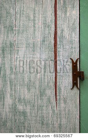 Abstract Surface: Fragment Of Old Wooden Door